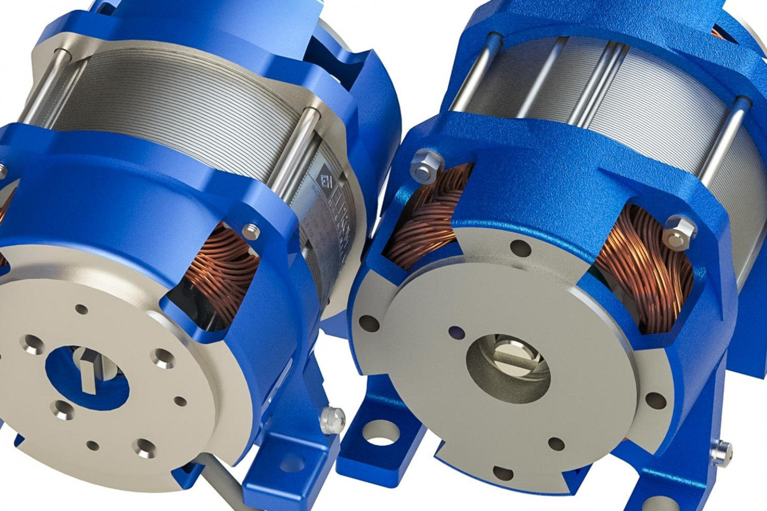 Submersible motors for hydraulic pumps
