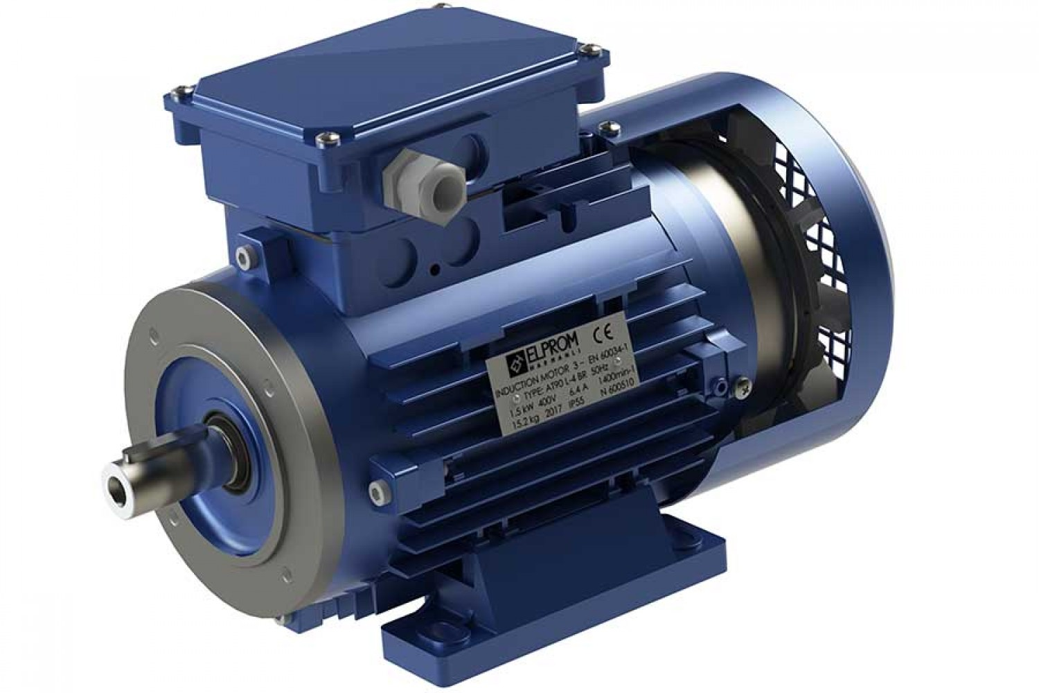 Motors with electromagnetic brake